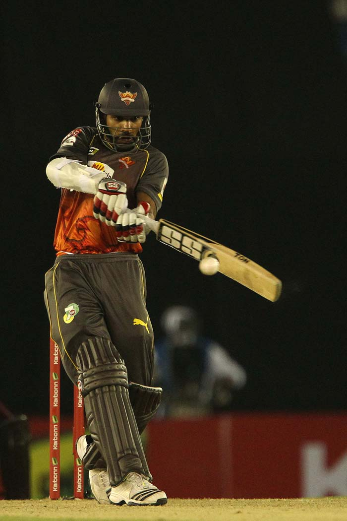 Fifties from both the openers made the target of 169 very easy for Hyderabad as they cruised to an 8-wicket win in Mohali over Kandurata in the 2nd qualifier of the Champions League T20. (All images SportzPics)