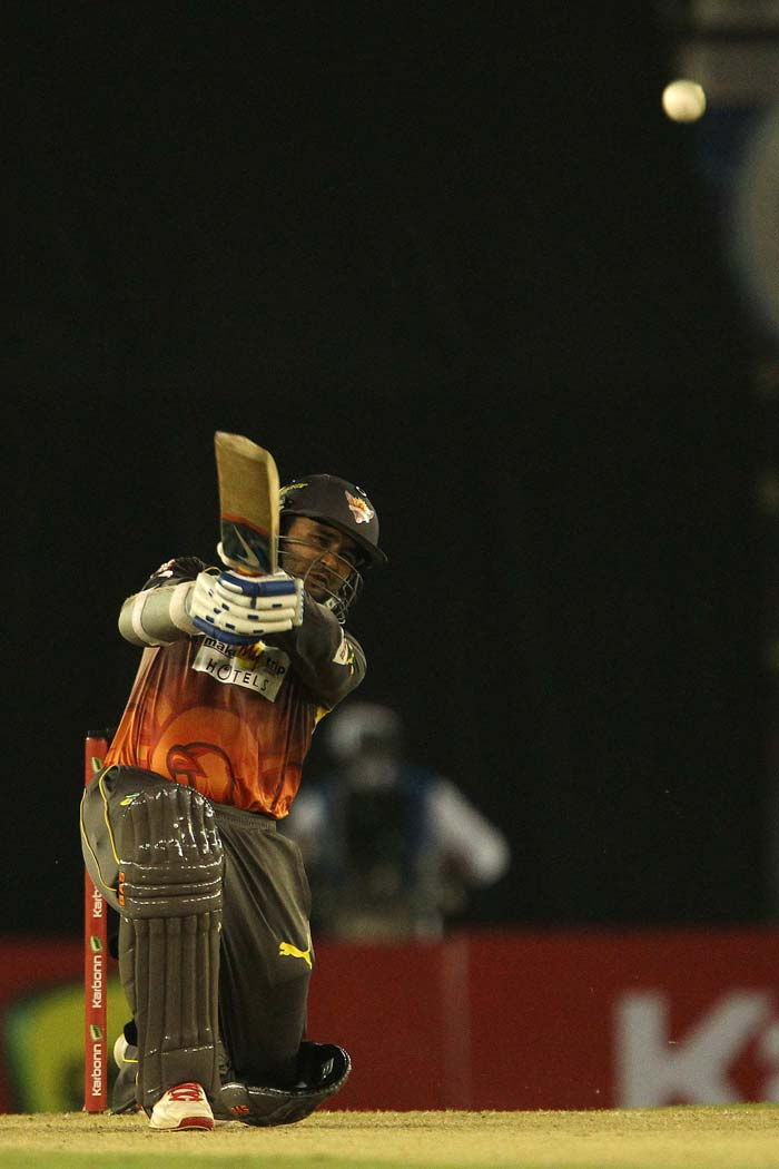Parthiv Patel hit a fluent 52 as the opening stand of 121 took the game away from Kandurata. Hyderabad went on to win by 8 wickets with 9 balls remaining.