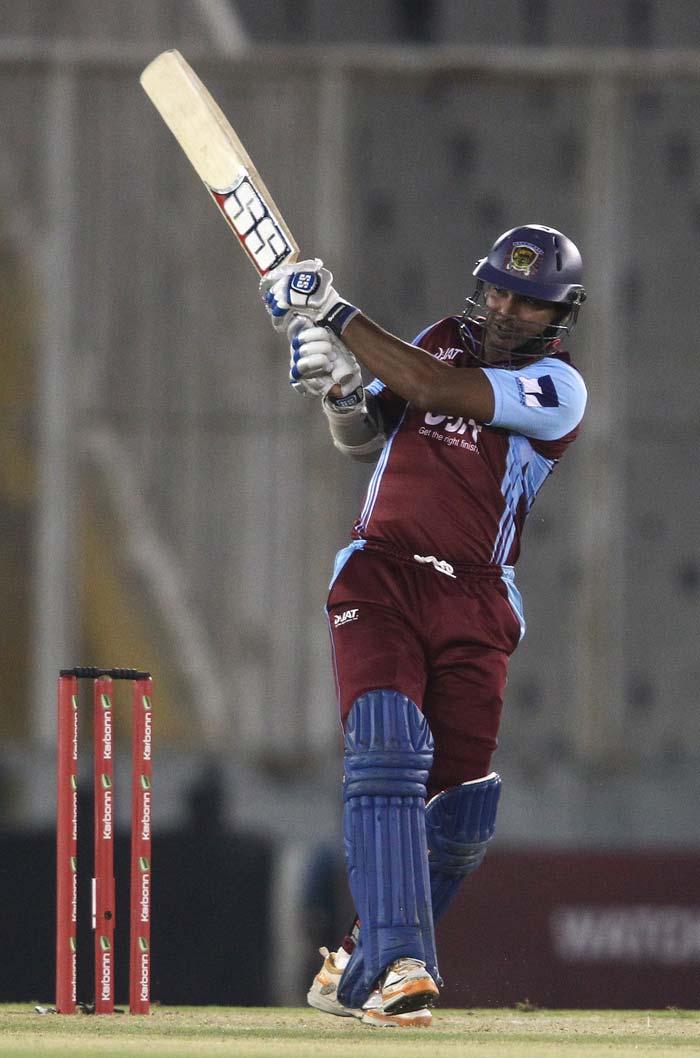 Kumar Sangakkara came to the party with an unbeaten 61 from 46 balls.