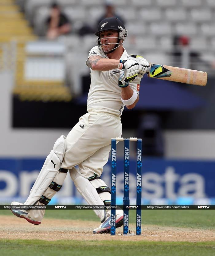 Brendon McCullum led the way for New Zealand by hitting 224, his second double ton in Tests.