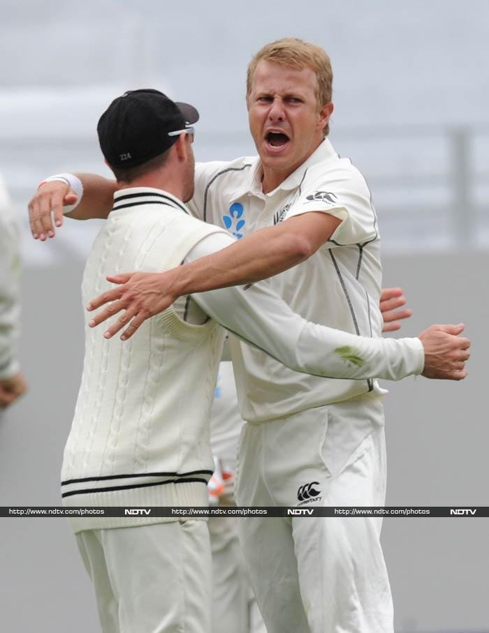 Neil Wagner struck to remove Murali Vijay for 26, leaving India in all sorts of trouble at 51 for four.