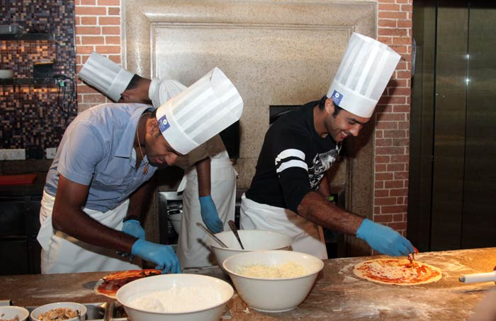 Rohan Bopanna and Aisam-ul-Haq Qureshi had a go at each other, but not on the tennis court, but in the kitchen!