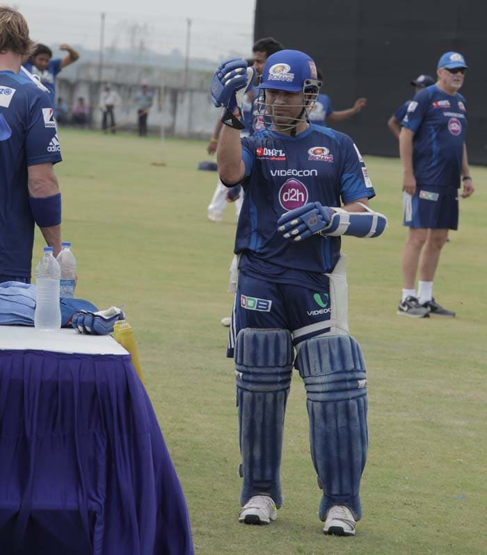 With the Champions League T20 set to start on the 21st, Mumbai Indians were seen having an extreme net session in their preparation for the tournament.