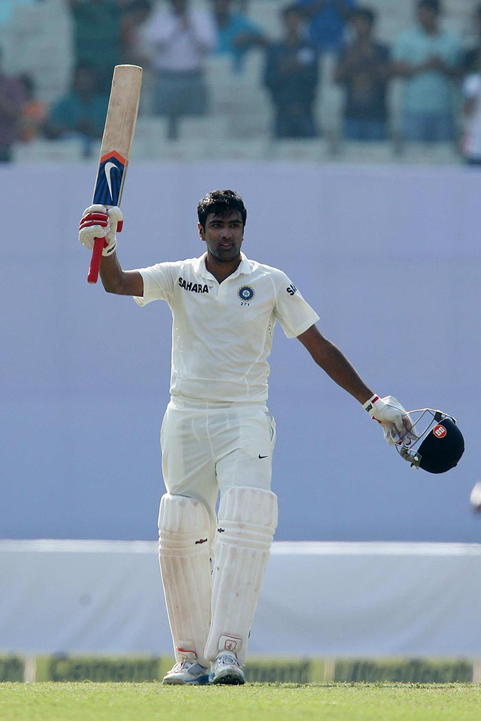Ashwin reached his second Test ton, and his second vs West Indies as well, and cemented his credentials with the bat. (BCCI image)