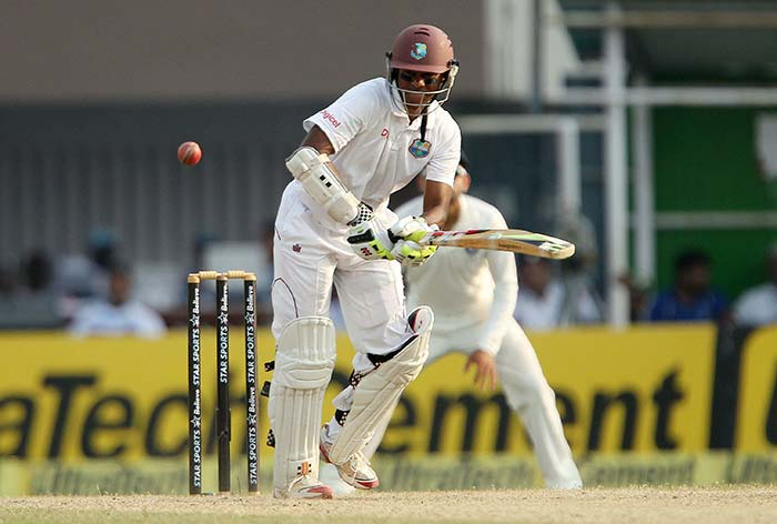 Shivnarine Chanderpaul remained not out on 31 but couldn't stop the rot at the other end. (BCCI image)