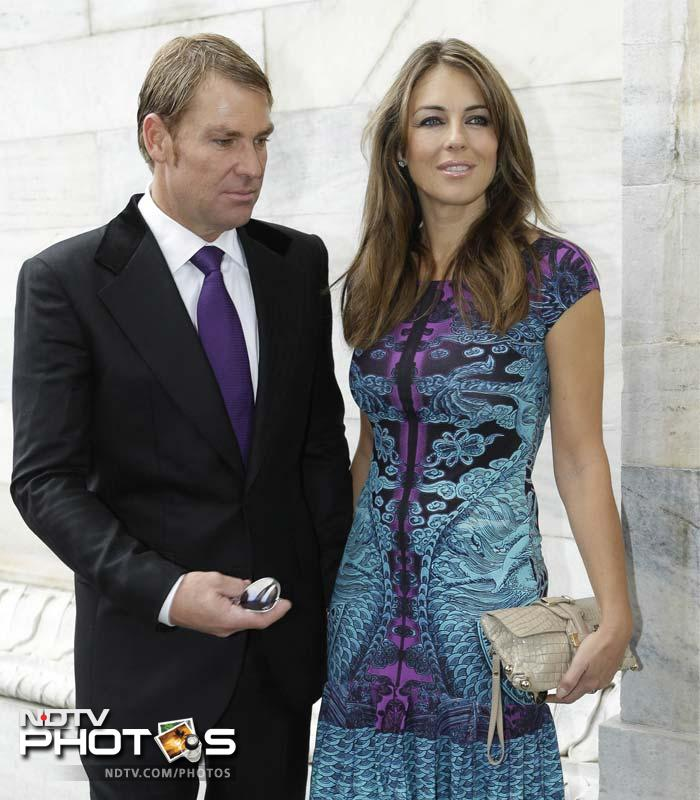 The couple looking elegant as ever and Warne's undivided attention on his beloved.