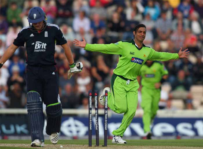 Akhtar's fastest delivery was clocked at a sizzling 161.3 km/h against England during the 2003 Cricket World Cup. It is the fastest delivery overall, to have been recorded officially. (Getty Images)