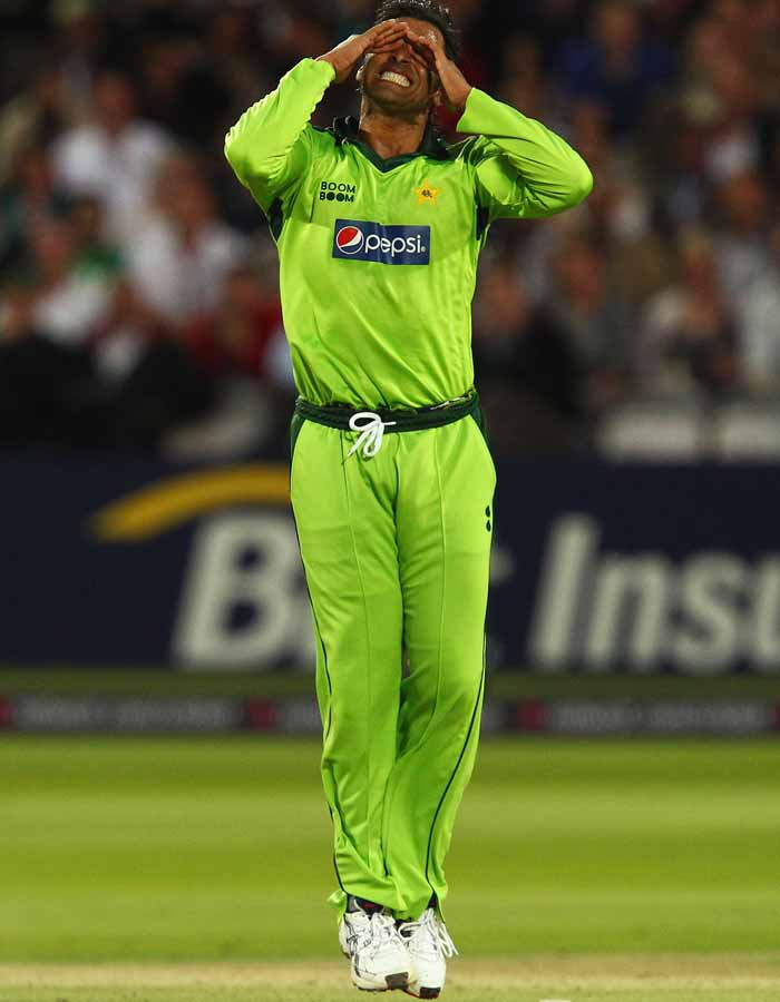 Temper and Shoaib Akhtar went hand in hand for most parts of his career. The latest example was his verbal altercation with Harbhajan Singh during a 2010 Asia Cup match. (Getty Images)