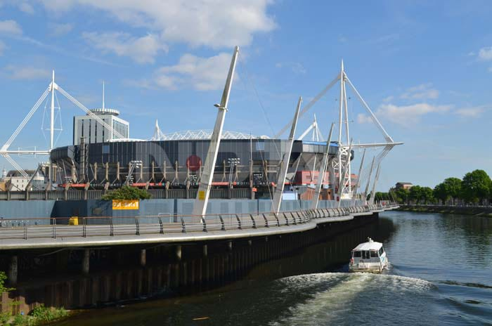 The Millennium Stadium, which is the national stadium of Wales, is only the second stadium in Europe to have a a fully retractable roof. With a capacity of 75,000 it hosts games of the national rugby and football teams.