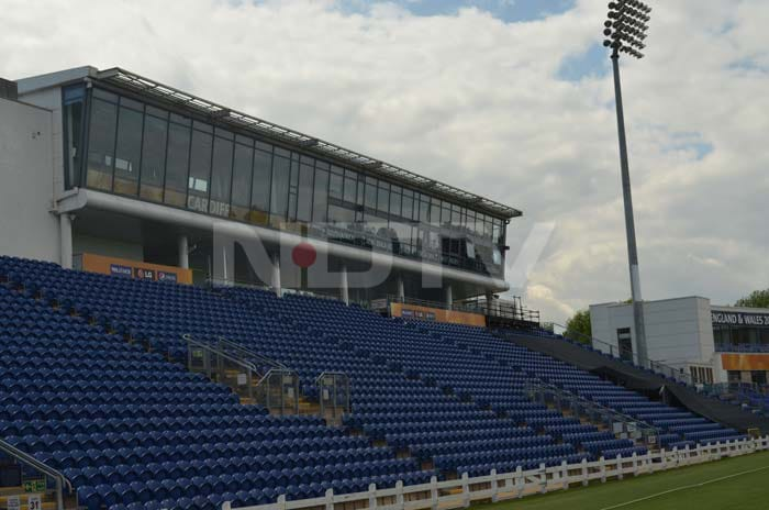 And finally to the Swalec Stadium in Cardiff is relatively small, but created a raucous atmosphere with the stands packed with Indian and South African fans. The stadium is known among locals as Sophia Gardens.