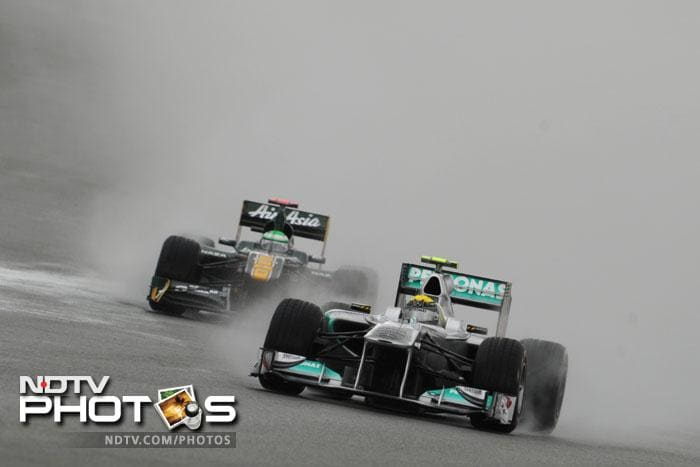 Team Lotus' Heikki Kovalainen could not improve much on his qualifying time which was evident in the result; he will start in the 17th spot.