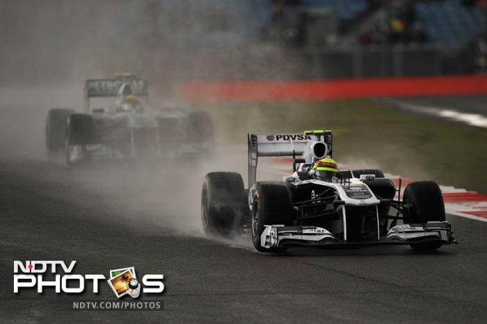 Williams' Pastor Maldonado will start the race from the 7th spot.