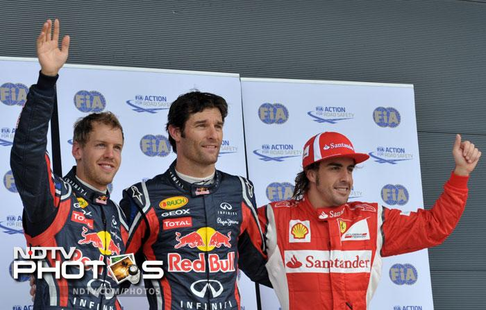 Mark Webber who had won the 2010 race will again be in prime position at Silverstone.