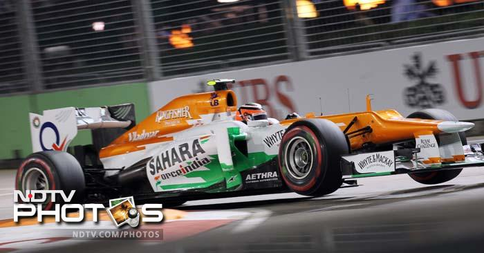Sahara Force India had a good finish to the Singapore GP as Paul di Resta finished fourth, better by two position from where he started on the grid.