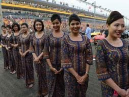 Photo : The 'High Flying' Grid Girls of Singapore F1
