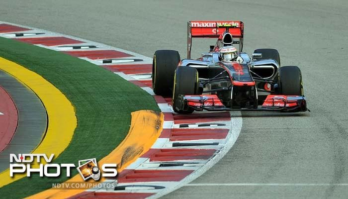 Hamilton's McLaren teammate Jenson Button finished the session with the fourth best time.