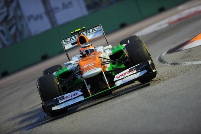 Sahara Force India has had a good run in Singapore and Paul di Resta ensured a sixth position for himself. Teammate Nico Hulkenberg is five places behind him.