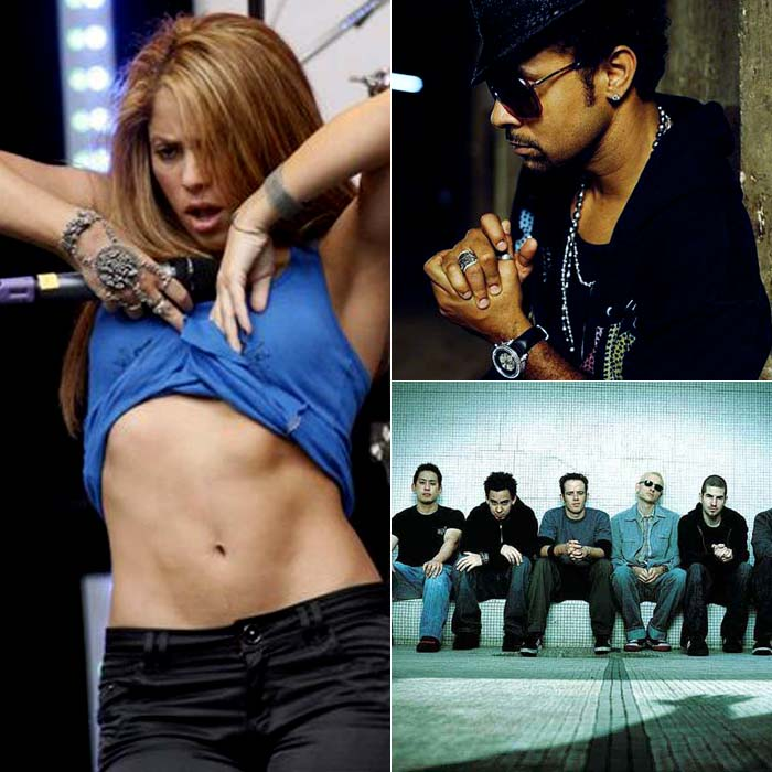 2011 is going to be power-packed as well. Shakira, Linkin Park and Shaggy are scheduled to perform here.