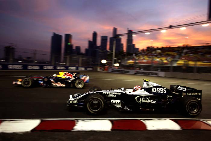 Although the standings may be all but decided in favour of the Red Bulls, the flavour is surely not lost. Bring on those adjustable projector lights and the thrust-based reflection set-up that illuminate Singapore for three days.