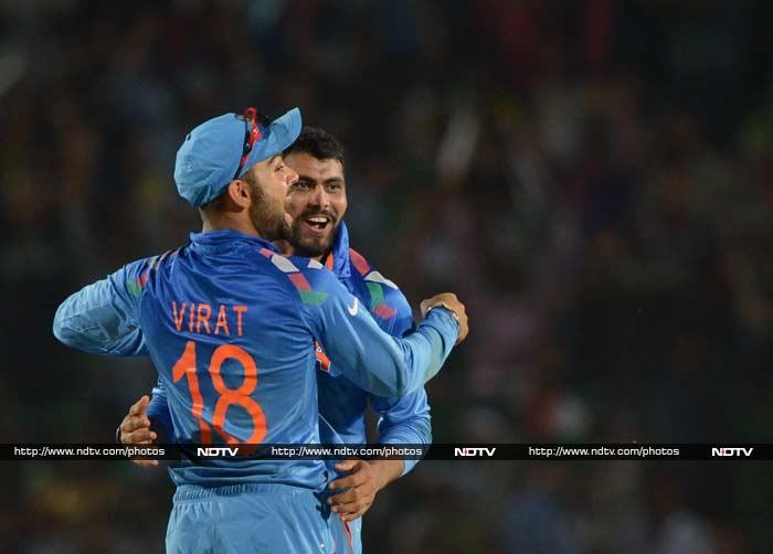 Once Ravindra Jadeja came out to bowl, it did not seem to matter much as he claimed two in two to dent Lanka's chase - in the 32nd over.