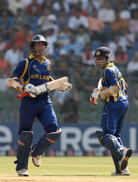 Sangakkara combined with Jayawardene to revive Sri Lanka after early setbacks as the duo put on 145 for the 3rd wicket. Jayawardene scored 66. (Getty Images)