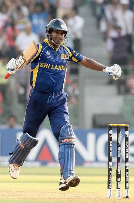 Skipper Kumar Sangakkara proved to be the mainstay of the Lankan batting as he top-scored with 111 off 128 balls, which included 12 fours and 2 sixes. (Getty Images)