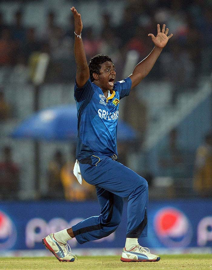 Ajantha Mendis claimed three wickets for his side.