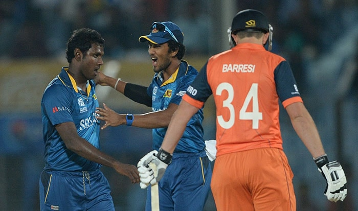 Angelo Matthews too took three wickets to humiliate The Netherlands.