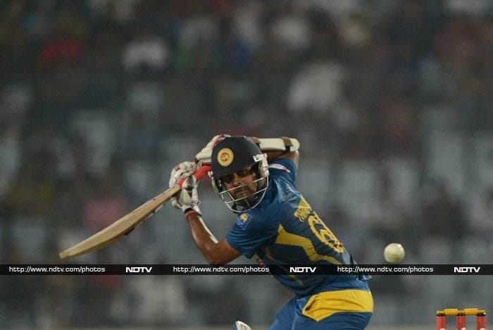 In reply, Lahiru Thirimanne (in pic) and Kusal Perera gave a solid start to the Lankans. <br><br> The two put on 56 before Perera and Kumar Sangakkara (0) fell to Saeed Ajmal's spin.