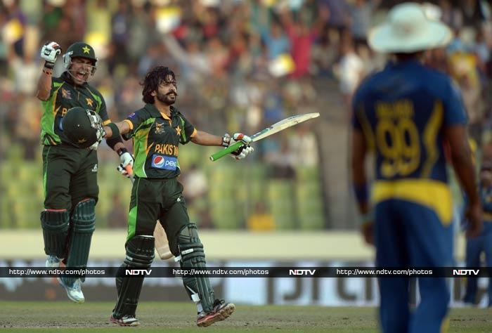 It was a respectable total after the initial setbacks. The innings was powered also by Umar Akmal (extreme left) who hit 59 off 42 and gave good support to Fawad.