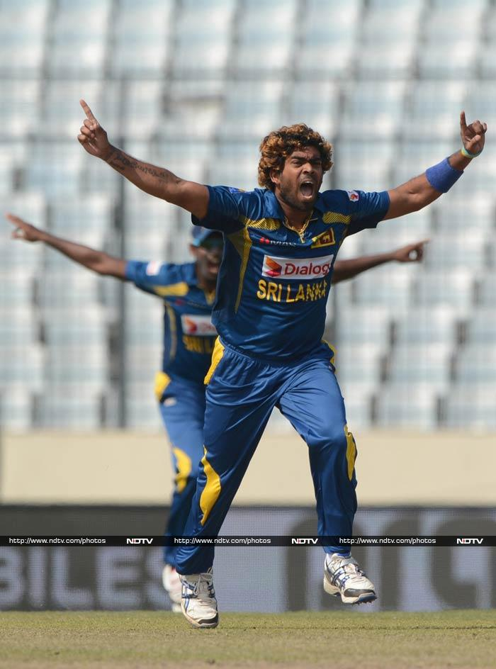 Pakistan had no answers to Malinga's might though as the bowler returned to claim three more wickets. In fact every single Pakistan batsmen fell to his pace as the team eventually posted 260/5.