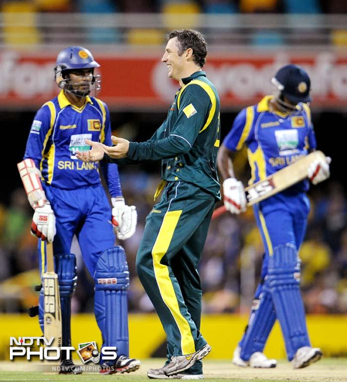 Both batsmen eventually left and though the match was taken to the final over, the visitors could not manage to score the final 15 runs.