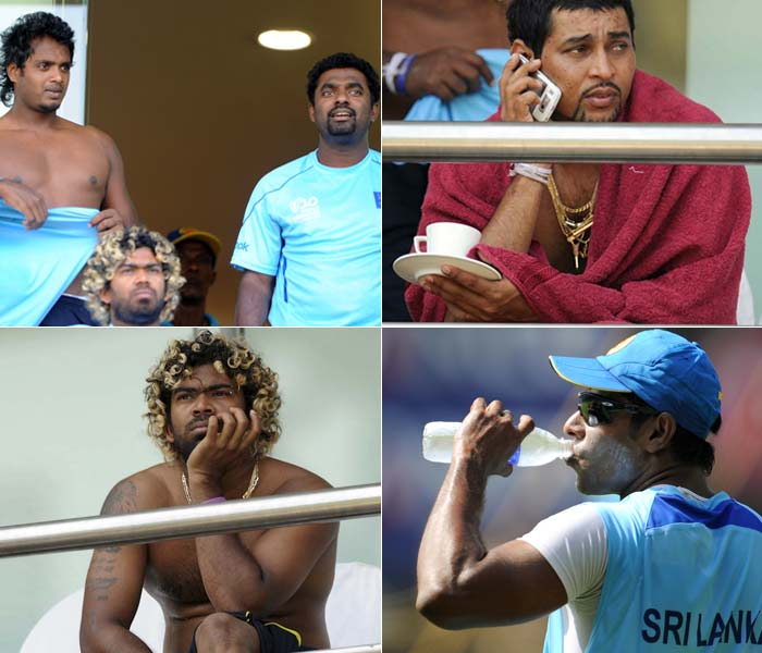 There is something in the air over Mumbai that smells a lot like a World Cup final is round the corner. The Sri Lankan's have noticed it and they are feeling it. So while it seems the heat is on for Sangakkara's team, we take a cheek in tongue look at what transpired in the Lankan camp a day before the day of judgment. (Getty Images)