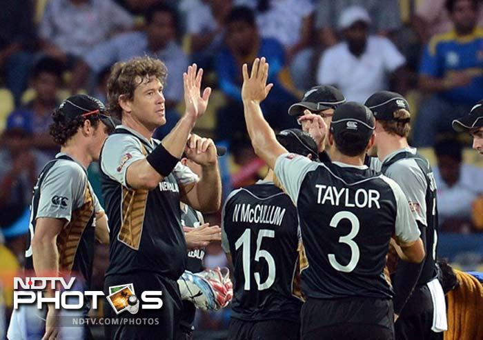 For New Zealand, strikes did come through Tim Southee (2 wickets) and Jacob Oram (1 wicket, in picture). The match soon assumed a tense stance.