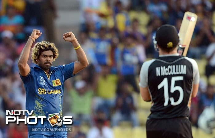 In the end, it was about 12 deliveries that separated New Zealand from Sri Lanka. A thrilling match which saw the first Super Over of the World T20 tournament this year, had the hosts pip to the pole, even if just about. The highlights in pics (AFP Pics)