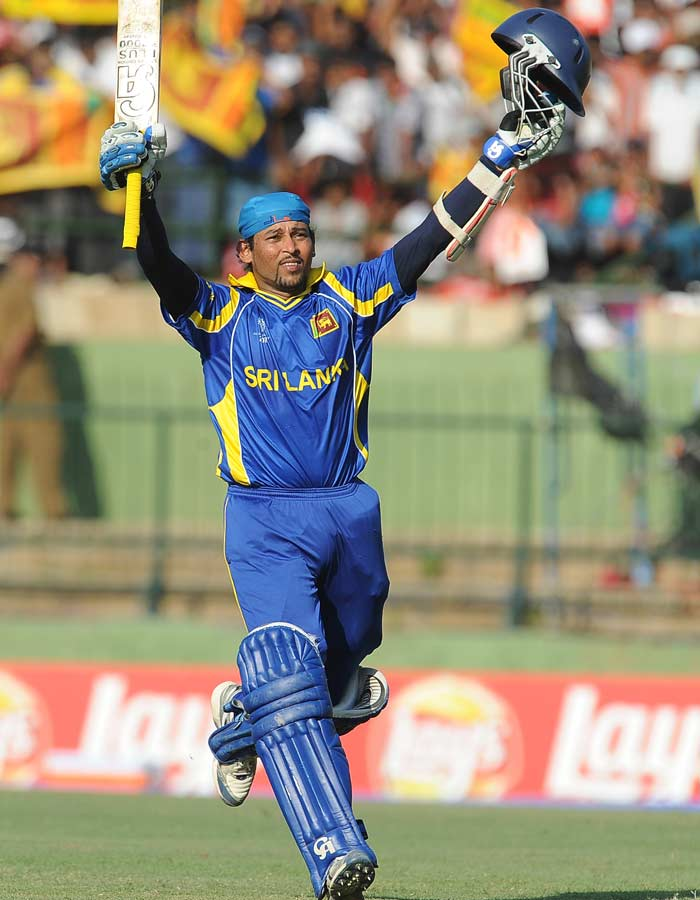 Dilshan used 131 balls to complete 144 runs. His innings included 16 boundaries and a six.