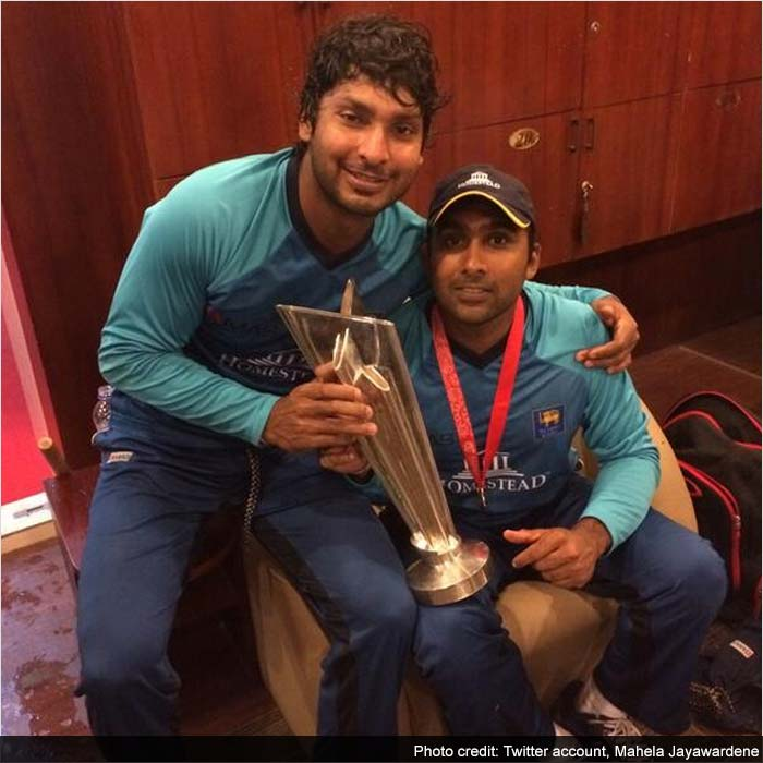 The emotional exit of two stalwarts of World cricket -- Kumar Sangakkara and Mahela Jayawardene -- turned into a special moment as they bid adieu such a high. Jayawardene tweeted this image, saying he wouldn't have wanted to end his T20I career with anybody else.
