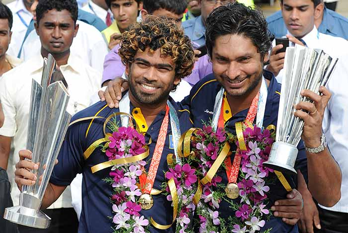 Retiring hero Kumar Sangakkara also looked extremely delighted to have returned home with a World Cup win
