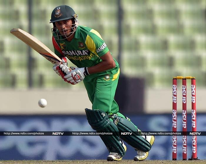 Anamul Haque kept going and was looking set to score his second fifty of the tournament.