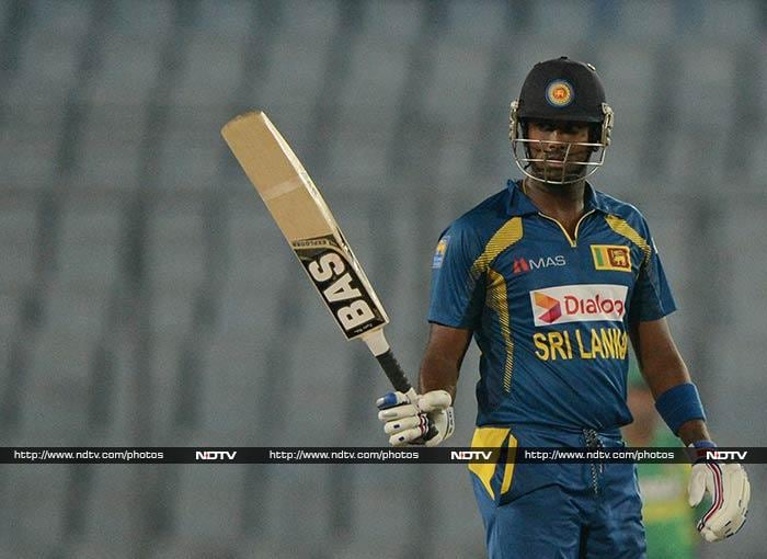 Angelo Mathews (74 not out) brought up his 19th ODI fifty and led his team to a thrilling three-wicket win over Bangladesh with just six balls to spare.