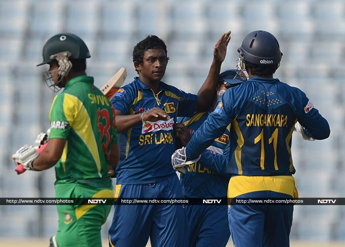 Sri Lanka's 'mystery spinner' struck in quick succession to pick up two wickets in the same over.