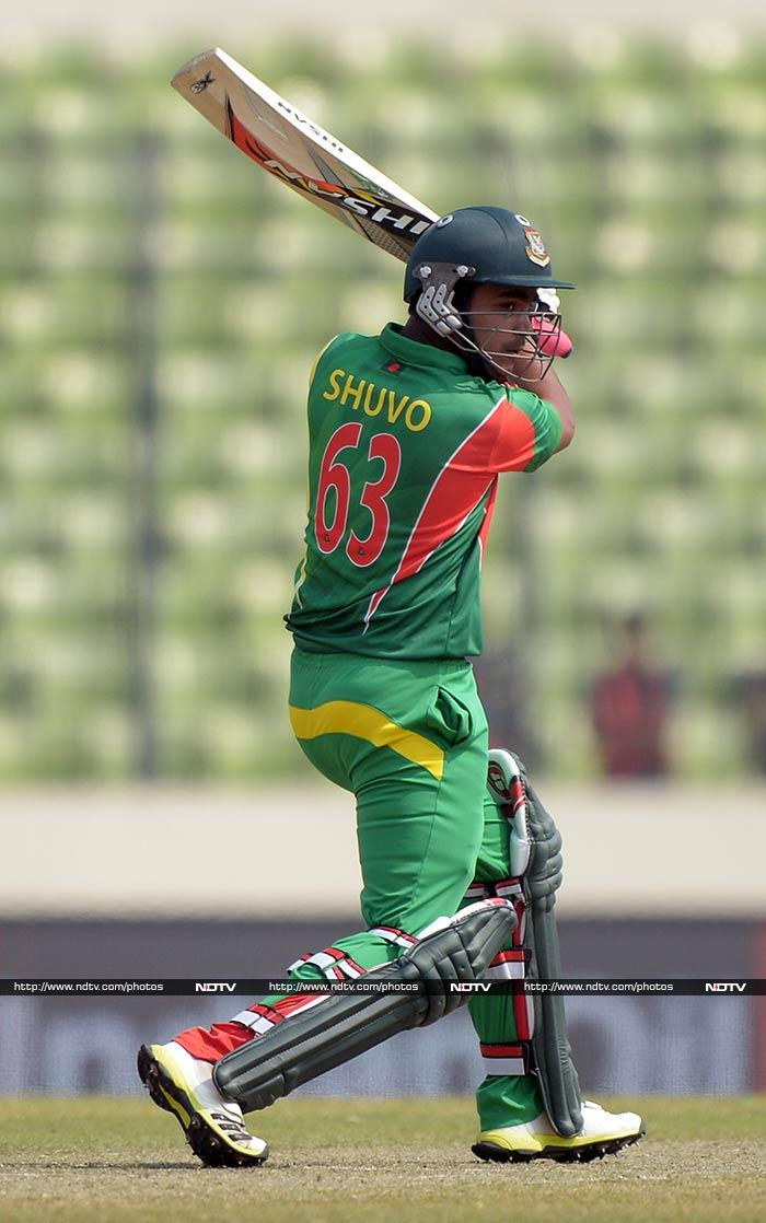 Bangladesh openers Shamsur Rahman and Anamul Haque started positively to add 74 runs for the first wicket. (All photos AFP and AP)