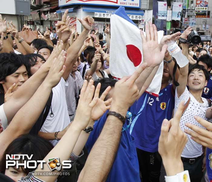 The party mood was on once the penalties were done and decided in Japan's favour as the flags were unfurled with vigour.