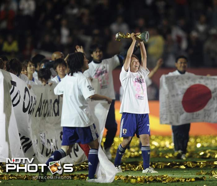 So as the women had their own celebrations at the field itself, the fans back home were equally ecstatic with the win, especially after battling with the earthquake and nuclear leaks for months.