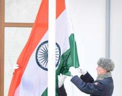 Photo : Indian flag at Sochi Winter Olympic Games