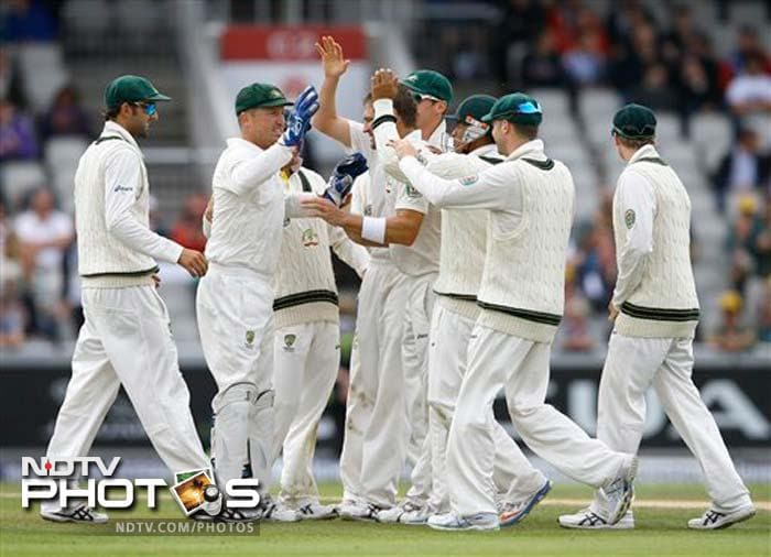 Harris was sensational with the ball, getting rid of Jonathan Trott as well. Australia will hope that the injury-prone Harris will recover in time for the next Test in Durham in 3 days time.