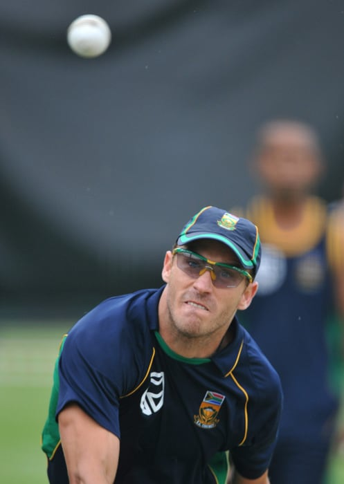 <b>FRANCOIS 'FAF' DU PLESSIS</b><br><br> <b>Age: </b>26.<br><b>Role: </b>Right-hand batsman, right-arm leg-spin<br> <b>Stats: </b>ODIs 3, Runs 69, Highest 60, Average 23.00, Strike-Rate 83.82, Fifties 1, Catches 3, Wickets 0, Economy-Rate 8.66<br><br> An outstanding domestic season earned Du Plessis a call-up during the recent series against India and he made an impressive half-century on debut. Adds strength to the side's fielding in the 30-metre circle and his leg-spin could be useful in the sub-continent.(Photo: Getty Images)