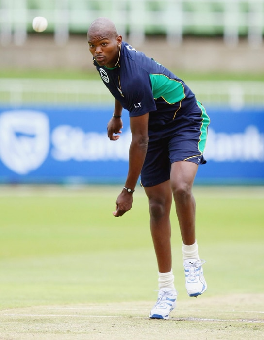 <b>LONWABO TSOTSOBE</B><br><br> <b>Age: </b>26.<br><b>Role: </b>Right-hand batsman, left-arm medium-fast<br> <b>Stats: </b>ODIs 19, Runs 6, highest 4 not out, Average 6.00, Strike-Rate 85.71, Catches 5, Wickets 36, Best 4-22, Average 19.91, Economy-Rate 4.54<br><br> The only black African in the South African team following the dropping and subsequent retirement of Makhaya Ntini, the tall Tsotsobe proved his worth with outstanding performances in successive one-day series against Pakistan and India, slanting the ball across right-handed batsmen, getting high bounce and possessing a good slower ball.(Photo: Getty Images)
