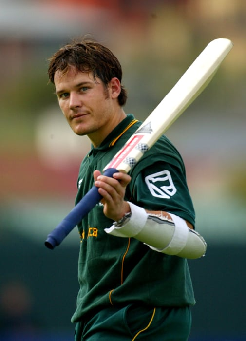 <b>MORNE VAN WYK</b><br><br> <b>Age: </b>31.<br><b>Role: </b>Right-hand batsman, wicketkeeper<br> <b>Stats: </b>ODIs 8, Runs 266, Highest 82, Average 33.25, Strike-Rate70.18, Fifties 3, Catches 1<br><br> Selected as South Africa's reserve wicketkeeper, Van Wyk has made only sporadic appearances for the country since his debut in 2003 but has been a consistently heavy scorer in domestic limited-over cricket.(Photo: Getty Images)