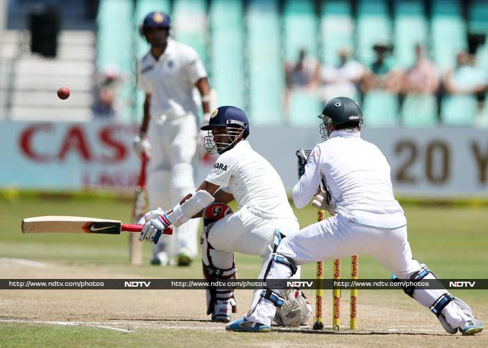 Rahane looked all set to complete a century but his wicket on 96 ended India's feeble resistance on 223.
